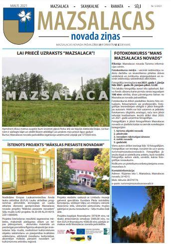 Mazsalacas novada ziņas maijā 2021