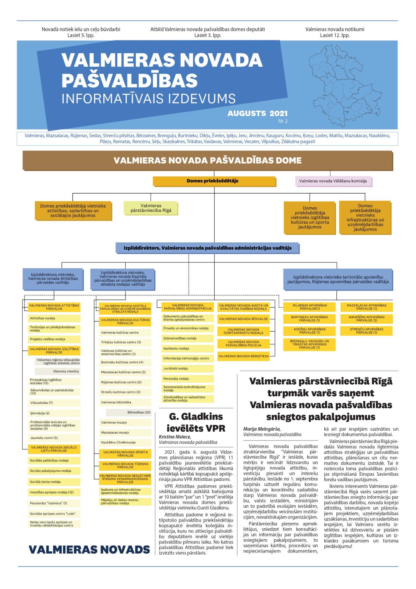 Valmieras novada pašvaldības informatīvais izdevums - augusts